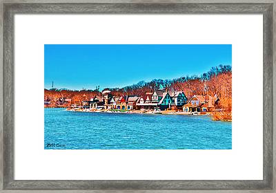 Schuylkill Navy Boat House Row Framed Print by Bill Cannon