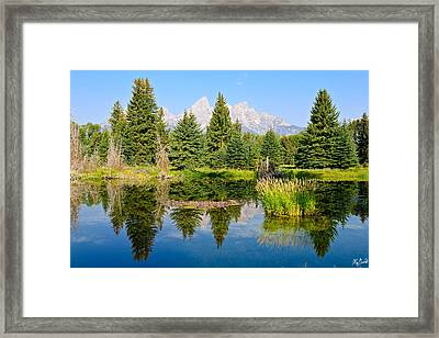 Schwabacher Landing Still Waters Framed Print by Greg Norrell