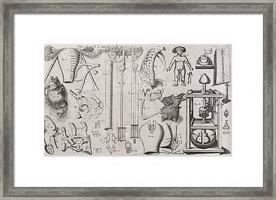 Science Illustrations, 17th Century Framed Print