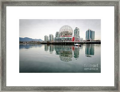 Science World Telus World Of Science Vancouver Bc Canada Framed Print