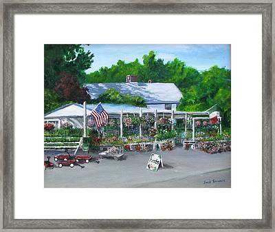 Scimone's Farm Stand Framed Print by Jack Skinner