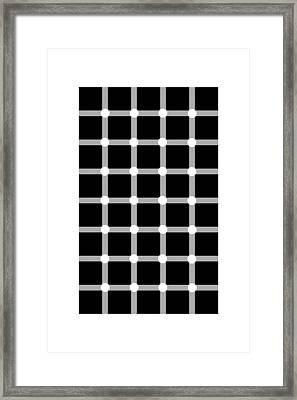 Scintillating Grid Illusion Framed Print by