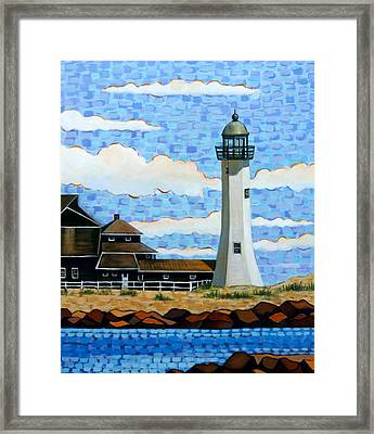 Scituate Light House Framed Print