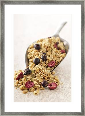 Scoop Of Cereal With Dried Fruit Framed Print