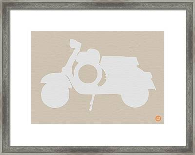 Scooter Brown Poster Framed Print by Naxart Studio