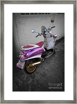 Scooter Power Framed Print