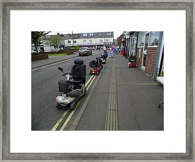 Scooter Wars Framed Print by Peter Waby