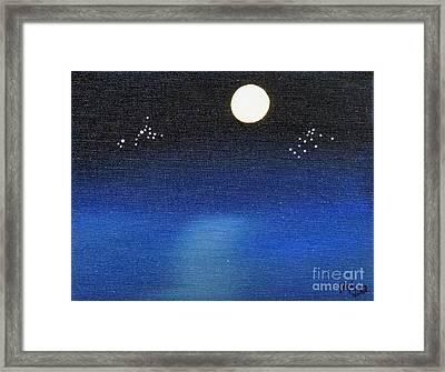 Scorpio And Aquarius Framed Print by Alys Caviness-Gober