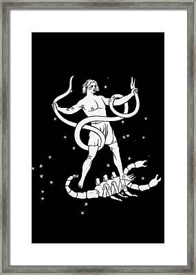 Scorpio And Ophiuchus Constellations Framed Print by