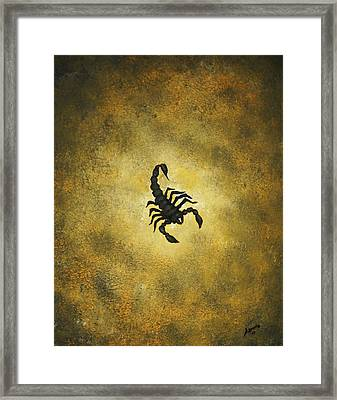 Framed Print featuring the painting Scorpion by Edwin Alverio