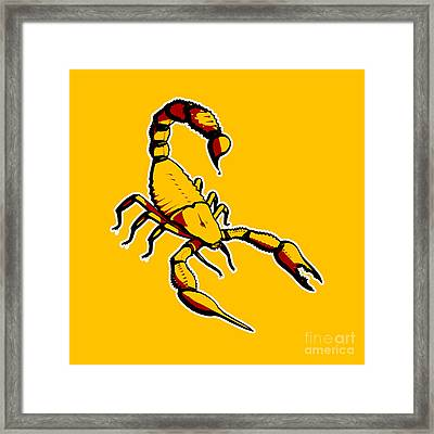 Scorpion Graphic  Framed Print by Pixel Chimp