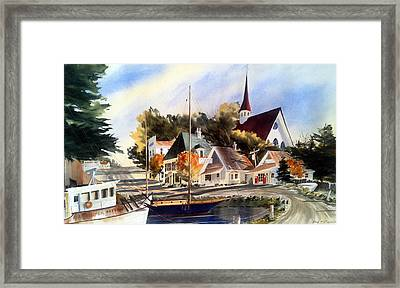 Scotia Princess ---annapolis N.s. Framed Print by Don F  Bradford