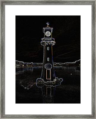 Framed Print featuring the photograph Scott Memorial Roath Park Cardiff 2 by Steve Purnell