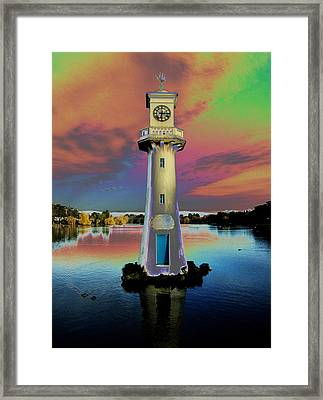 Framed Print featuring the photograph Scott Memorial Roath Park Cardiff 4 by Steve Purnell