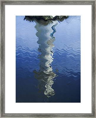 Framed Print featuring the photograph Scott Memorial Roath Park Cardiff Reflections by Steve Purnell