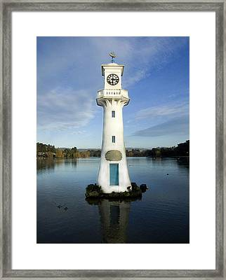 Framed Print featuring the photograph Scott Memorial Roath Park Cardiff by Steve Purnell