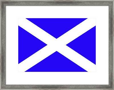 Scottish Flag Framed Print by Christopher Rowlands