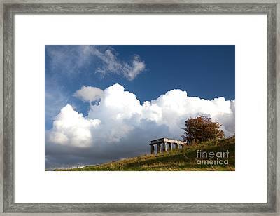Scottish National Monument On Calton Hill Framed Print by Steven Gray