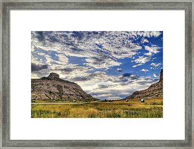 Framed Print featuring the photograph Scott's Bluff National Monument by Geraldine Alexander