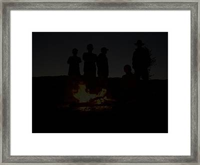 Scout Camp Fire Framed Print by LaDonna Vinson
