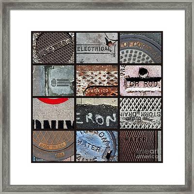 Scrabble Framed Print by Marlene Burns