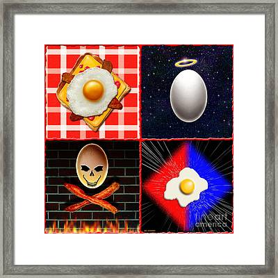 Scrambled Eggs Framed Print by Cristophers Dream Artistry