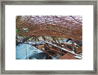 Scrap Yard Framed Print