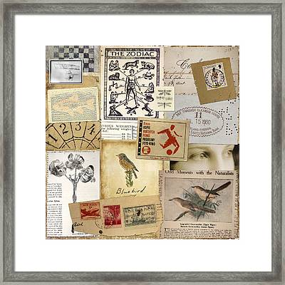 Scrapbook Page Number 1 Framed Print by Carol Leigh