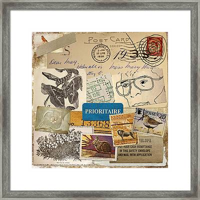 Scrapbook Page Number 2 Framed Print by Carol Leigh