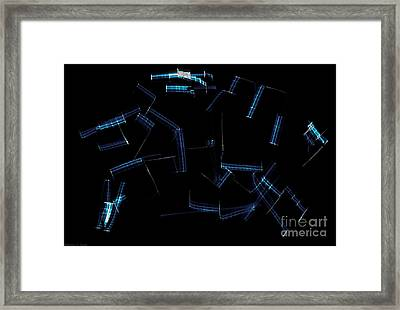Scratches Framed Print by Warren Sarle