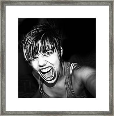 Scream 2 Framed Print by Tilly Williams