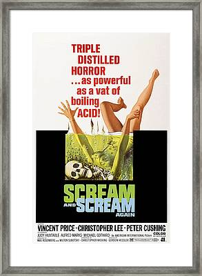 Scream And Scream Again, 1-sheet Poster Framed Print by Everett