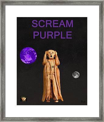 Scream Purple Framed Print by Eric Kempson