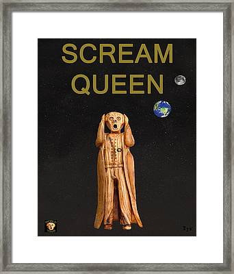 Scream Queen Framed Print by Eric Kempson