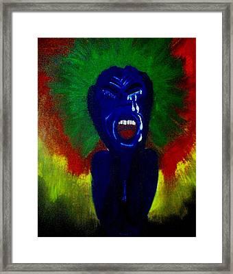Scream Framed Print by Violette L Meier