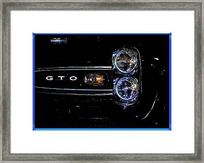 Screamin Gto Framed Print by DigiArt Diaries by Vicky B Fuller