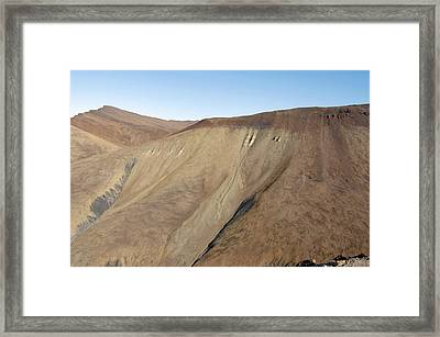 Scree Slope, Canadian Arctic Framed Print by Dr Juerg Alean