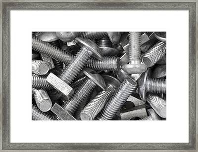 Screw Bolts Framed Print
