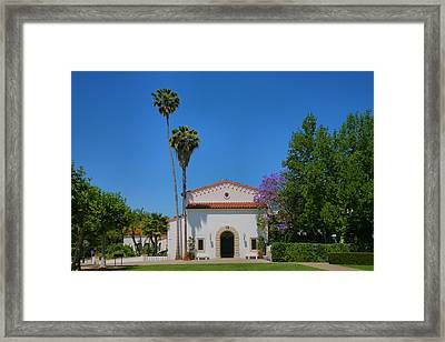 Scripps College Grounds Framed Print by Steven Ainsworth