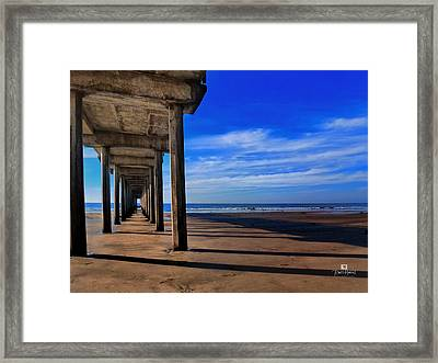 Scripps Pier Late Afternoon Framed Print by Russ Harris