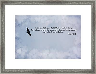 Scripture And Picture Isaiah 40 31 Framed Print by Ken Smith