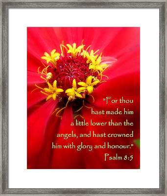 Scripture Art Flower Psalm 8 Framed Print