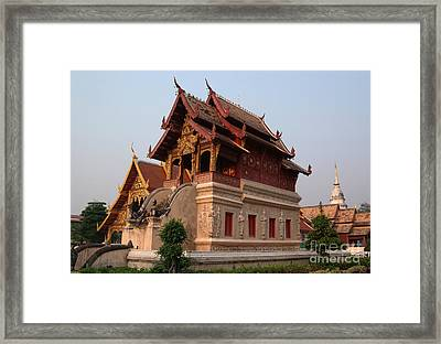 Scripture Repository Wat Phra Singh Chiang Mai Framed Print by Opas Chotiphantawanon