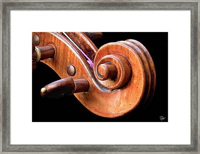 Scroll Detail Framed Print by Endre Balogh