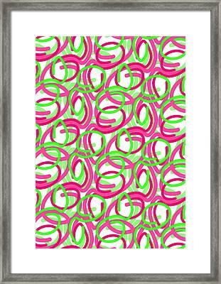 Scroll Framed Print by Louisa Knight