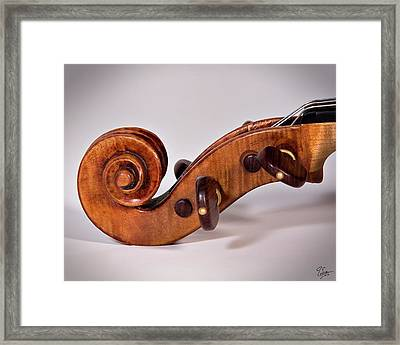 Scroll Side View Framed Print by Endre Balogh