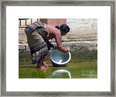 Scrub Day- Nepal Framed Print by Louise Peardon