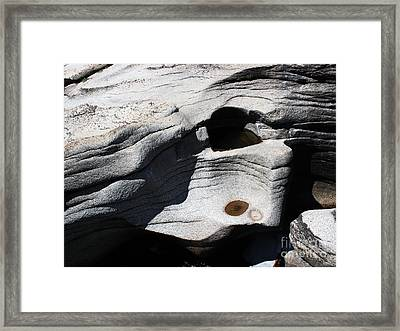Sculpted Stone Framed Print by Juan Romagosa