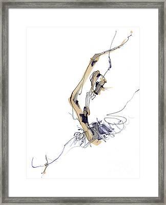 Sculpting Ballet Framed Print by Lousine Hogtanian