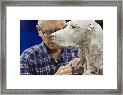 Sculptor Framed Print by Rebecca Cozart
